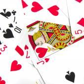Poker cards background — Stock Photo