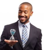 Young cool black man with a timer — Stock Photo