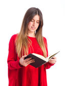Young cool girl reading — Stockfoto