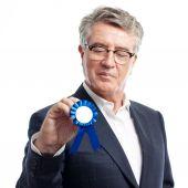 Senior cool man with a medal — Foto de Stock