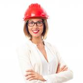 Young cool woman architect — Stock Photo