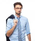 Young crazy businessman proud concept — Stock Photo