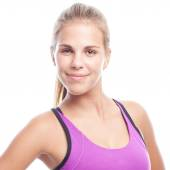 Young cool woman sport concept — Stock Photo