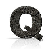Q  letter cracked cement texture — Stockfoto