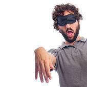 Young crazy man sleepwalker concept — Stock Photo