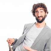 Young crazy man without money gesture — Stock Photo