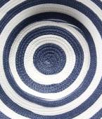 Closeup Blue and white striped hat — Stock Photo