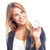 Young cool woman with a timer — Stock Photo