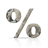 Percent symbol grunge texture — Stock Photo