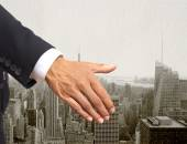 Shaking hands gesture — Stock Photo