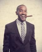 Young cool black man celebrating success — Stock Photo