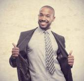 Young cool black man proud sign — Stock Photo