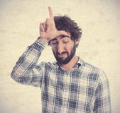 Young man looser gesture — Stock Photo