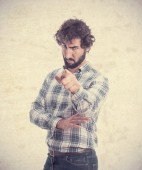 Young man accusing — Stock Photo
