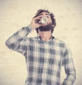 Mladý vousatý muž — Stock fotografie