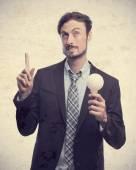Young crazy businessman having an idea — Foto de Stock