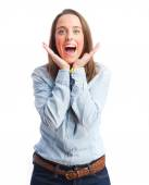 Happy young girl — Stock Photo