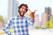 Man young disagree gesture — Stock Photo