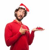 Man with a car toy — Stock Photo