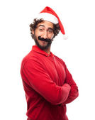 Man with a fake moustache — Stock Photo