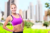 Young cool woman fitness concept — Stock Photo
