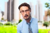 Young crazy businessman — Stock Photo