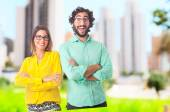 Young cool couple — Stock Photo