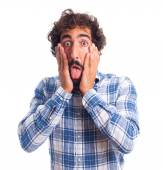 Young shocked man — Stock Photo