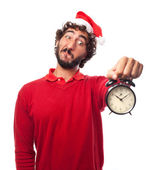 Man with a clock — Stock Photo