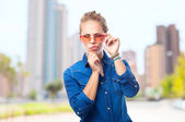 Young cool woman doubting — Stock Photo