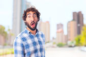 Young astonished man — Stock Photo