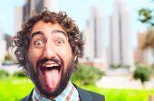 Young crazy man — Stock Photo