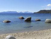 Sea beach with rocks — Stock Photo