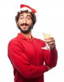 Celebrating man pose — Stock Photo