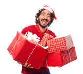 Man with gifts — Stock Photo