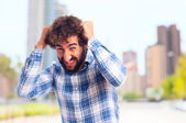 Young frustrated man — Stock Photo
