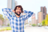 Young confidence and relaxed man — Stock Photo