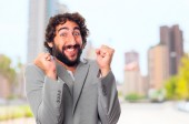 Young crazy man. happy concept — Foto de Stock