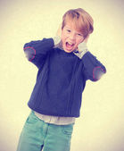 Fearful child screaming — Stock Photo