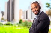 Young cool black man consulting  — Stock Photo