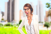 Young cool woman manager — Stock Photo