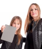 Mother and daughter posing — Stock Photo