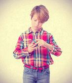 Pensive child solving a problem — Stock Photo