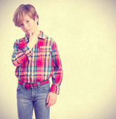 Child with seductive gesture — Stock Photo