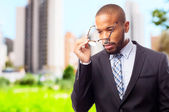 Young cool black man intelligence concept — Stock Photo