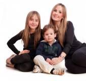 Happy family posing — Stock Photo