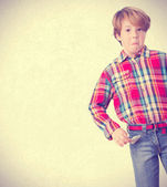 Poor child posing — Stock Photo