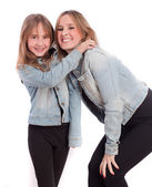 Mother and daughter laughing — Stock Photo