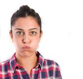 Closeup of a bored girl — Stock Photo