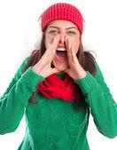 Angry girl shouting — Stock Photo